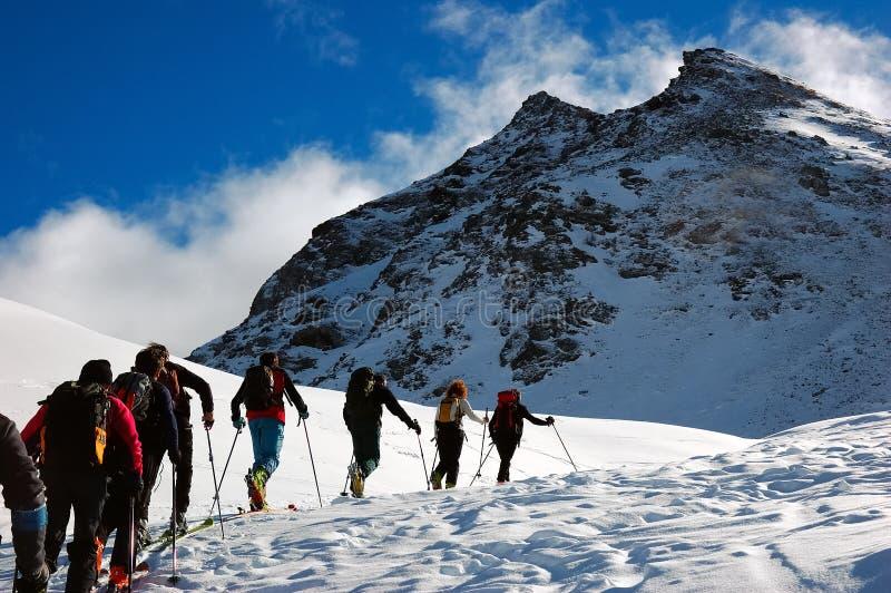 Backcountry ski stock photography