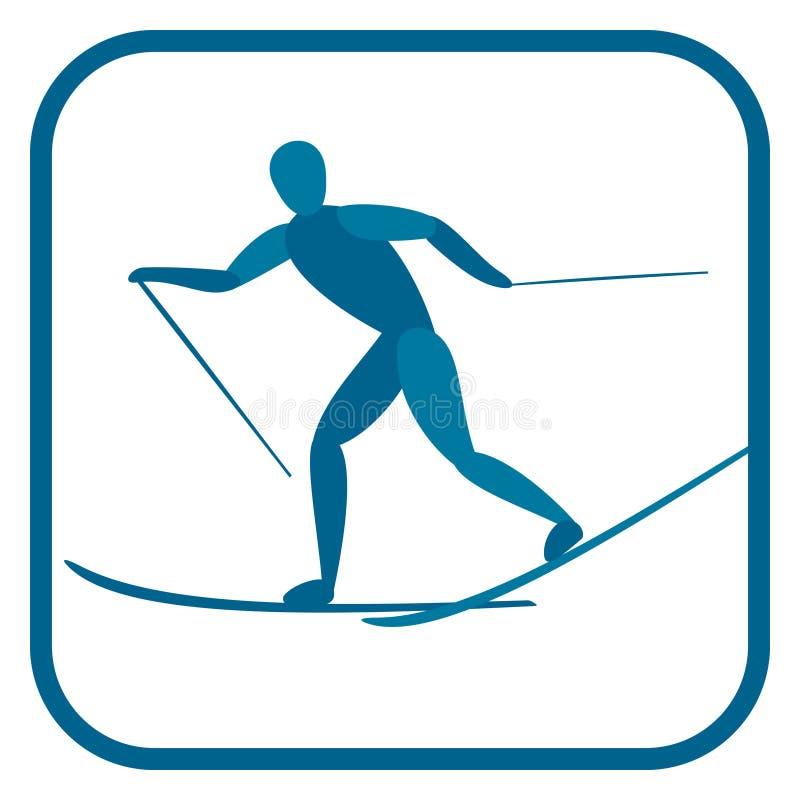 backcountry skier stock illustrationer