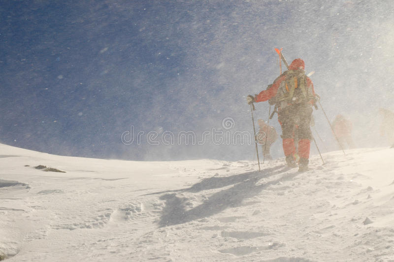 Download Backcountry skiers stock photo. Image of afternoon, sunny - 18131892