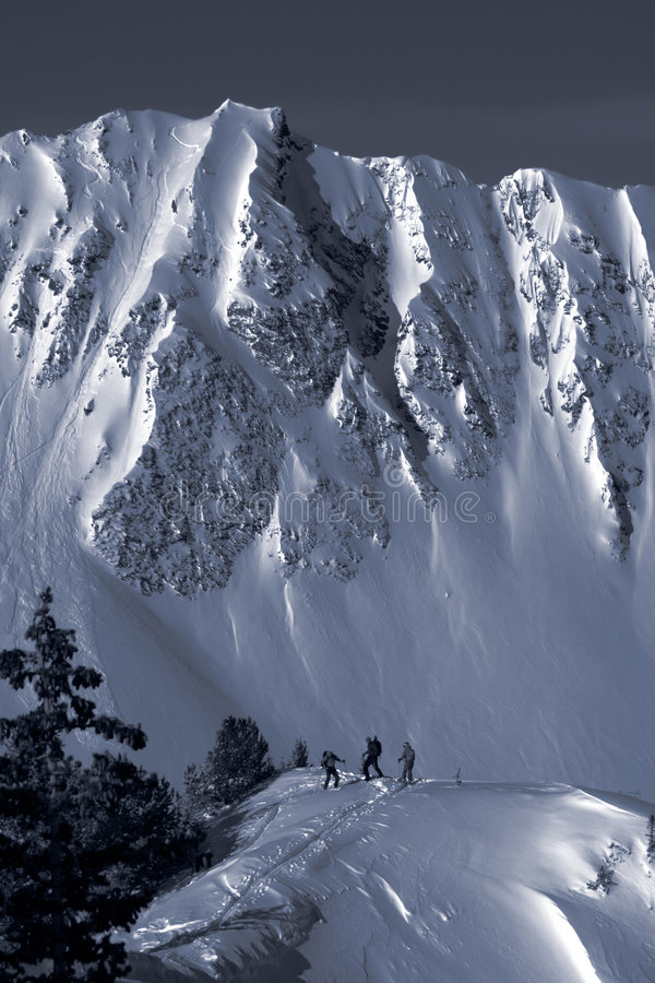 Free Backcountry Skiers Duotone Royalty Free Stock Images - 4791569