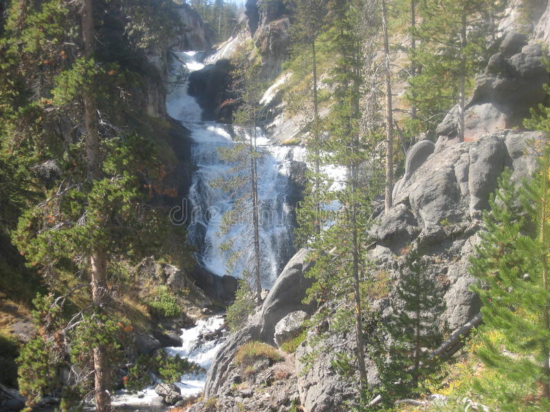Backcountry waterfall stock images