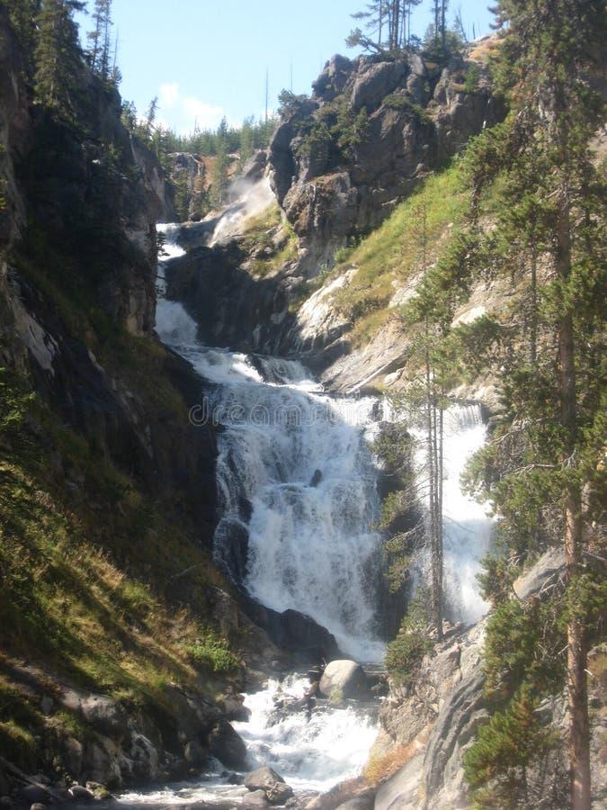 Backcountry waterfall royalty free stock photo