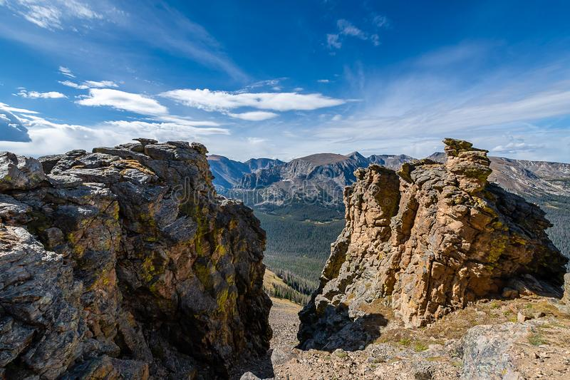 The call of Rocky Mountain National Park stock photo