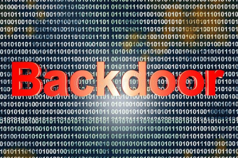 Download Backdoor stock illustration. Illustration of data, binary - 41215207