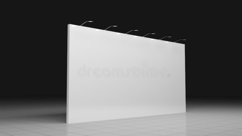 Backdrop banner 6x3 meters. Blank template. Mockup for. Backdrop banner 2x3 meters. Blank template. Mockup for your design royalty free stock photography