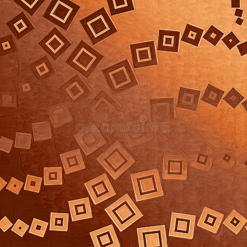 Backdrop brown with squares royalty free illustration
