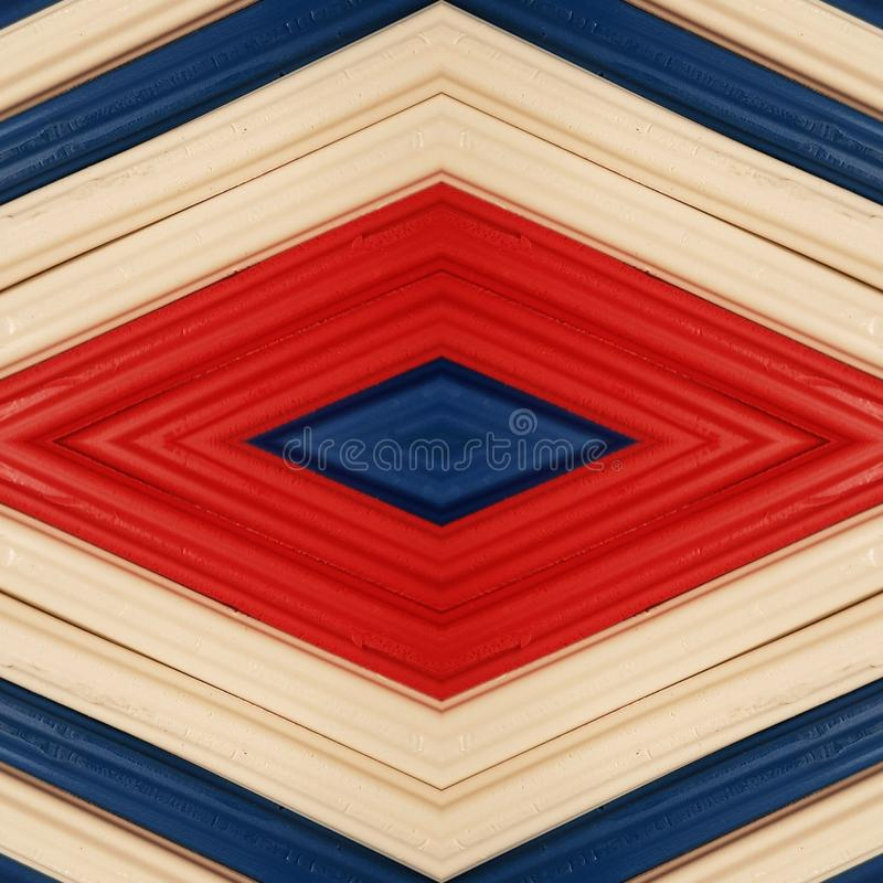 Abstract design with pieces of plasticine bars in colors blue, white and red, background and texture. Backdrop for color-related announcements, school material stock photos