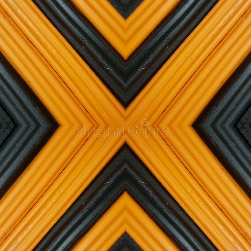Letter x with pieces of plasticine bars in colors orange and black, background and texture. Backdrop for color-related announcements, school material for molding stock image