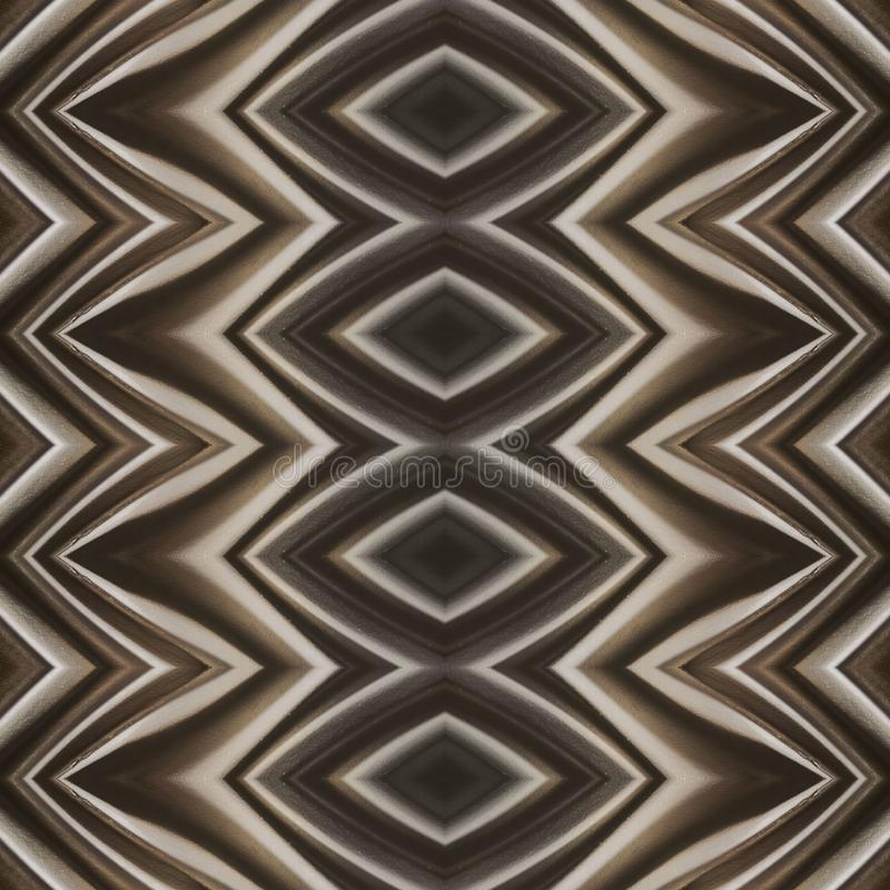 Abstract design with curved lines and geometric pattern on a brown colour surface, background and texture. Backdrop for colors related ads, geometric pattern royalty free illustration