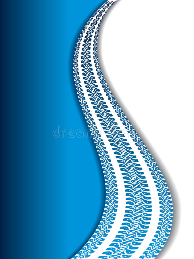 Backdrop With Tire Tracks Stock Image