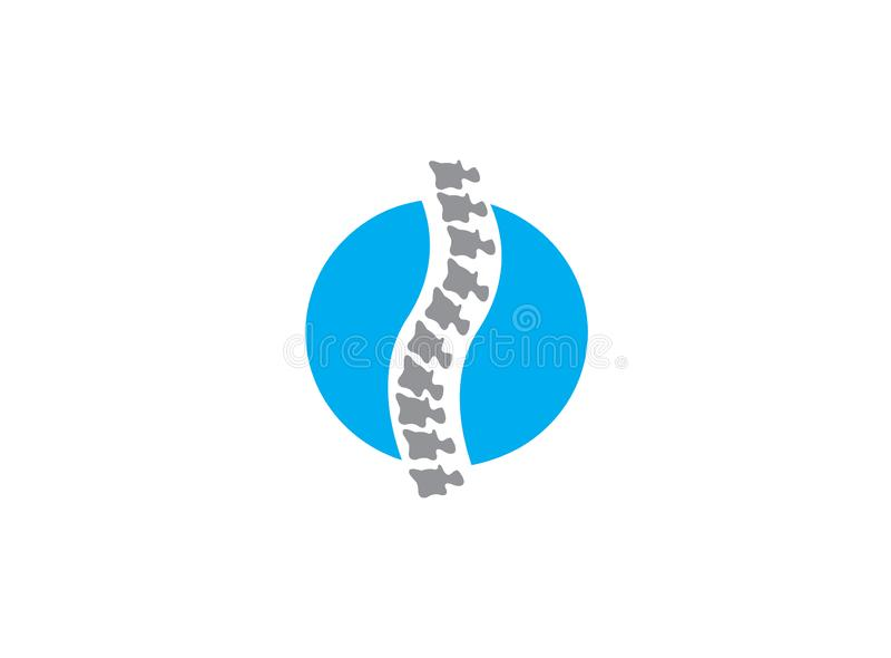 Backdropes kości okręgu sfera rdzeń kręgowy dla medycznego dla logo projekta ilustracji na białym tle ilustracja wektor