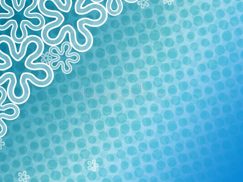 Backdround floreale blu astratto illustrazione vettoriale