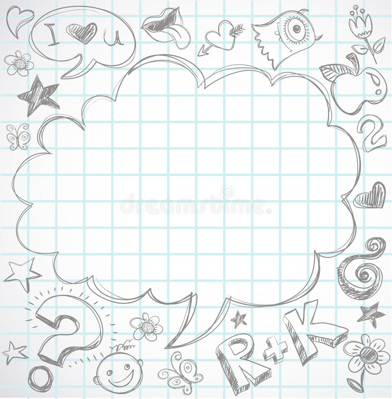 backen klottrar anteckningsbokskolan till vektor illustrationer