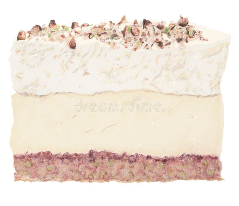 Backen Sie griechischen Nachtischvanillepudding, -creme u. -nüsse zusammen einzeln lizenzfreie stockbilder