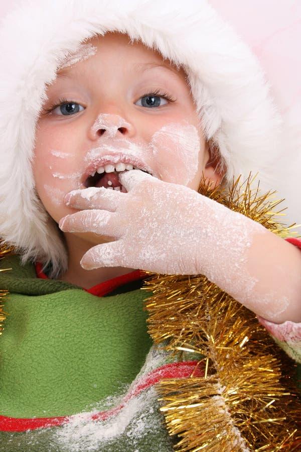 Backen-Weihnachtsplätzchen lizenzfreie stockfotografie