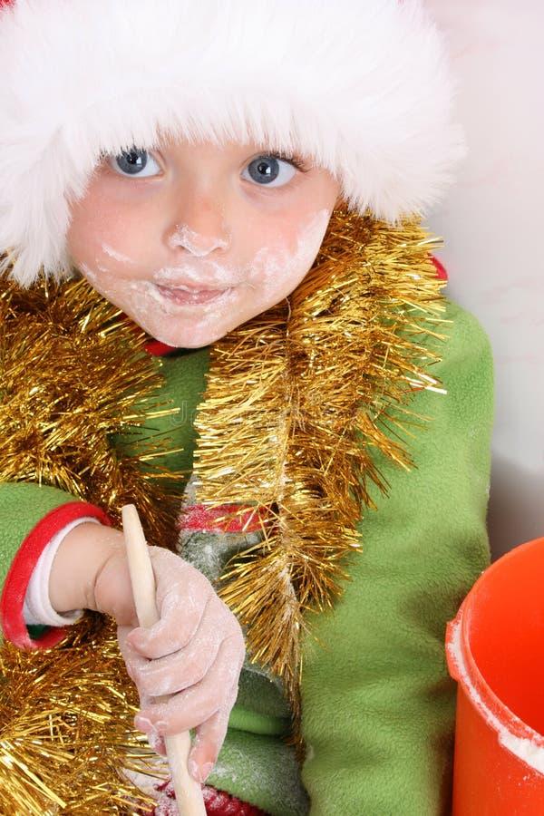 Backen-Weihnachtsplätzchen lizenzfreies stockbild