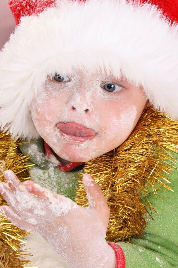 Backen-Weihnachtsplätzchen stockfoto