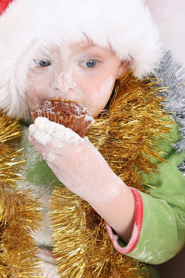 Backen-Weihnachtsplätzchen stockfotos