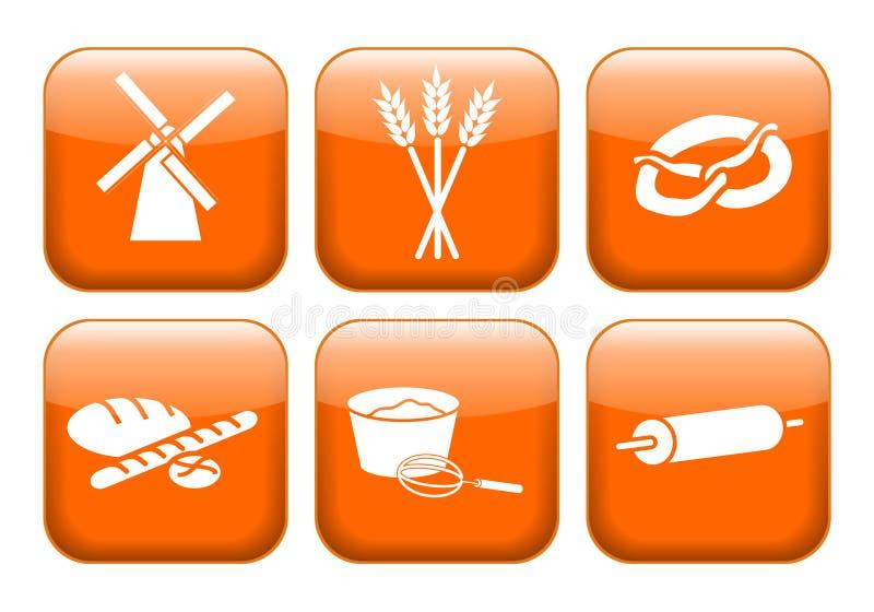 Download Backer apps stock illustration. Image of bakery, mill - 25150498