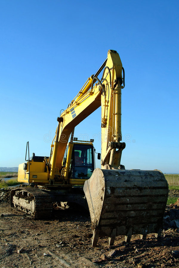 Free Backfiller Excavator Digger Royalty Free Stock Photography - 1251967