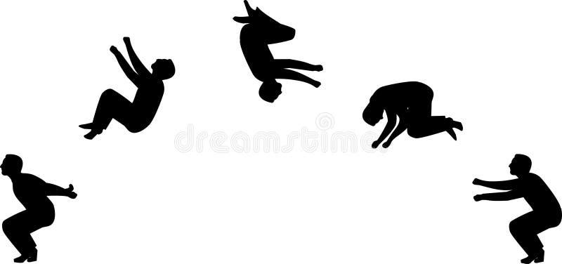 Backflip illustration libre de droits