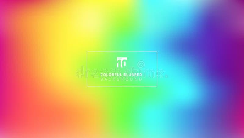 Backg borroso liso de la malla de la pendiente del color brillante abstracto del arco iris stock de ilustración