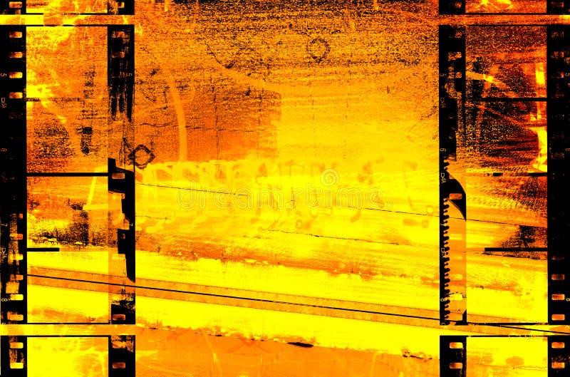 Backg caldo del grunge dell'estratto della pellicola illustrazione di stock