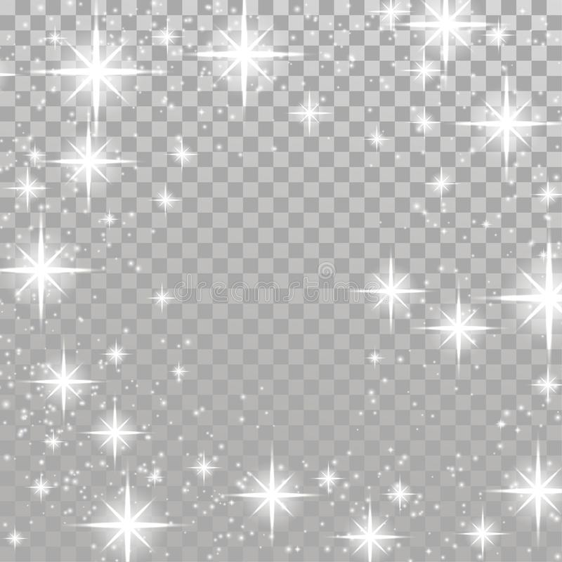 Backg a cuadros de la estrella del centelleo del resplandor de la disposición brillante brillante del marco libre illustration