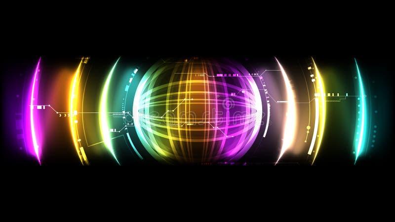 Backg del interfaz de los sonidos del hud del futuro de la encripción del sistema tecnológico libre illustration