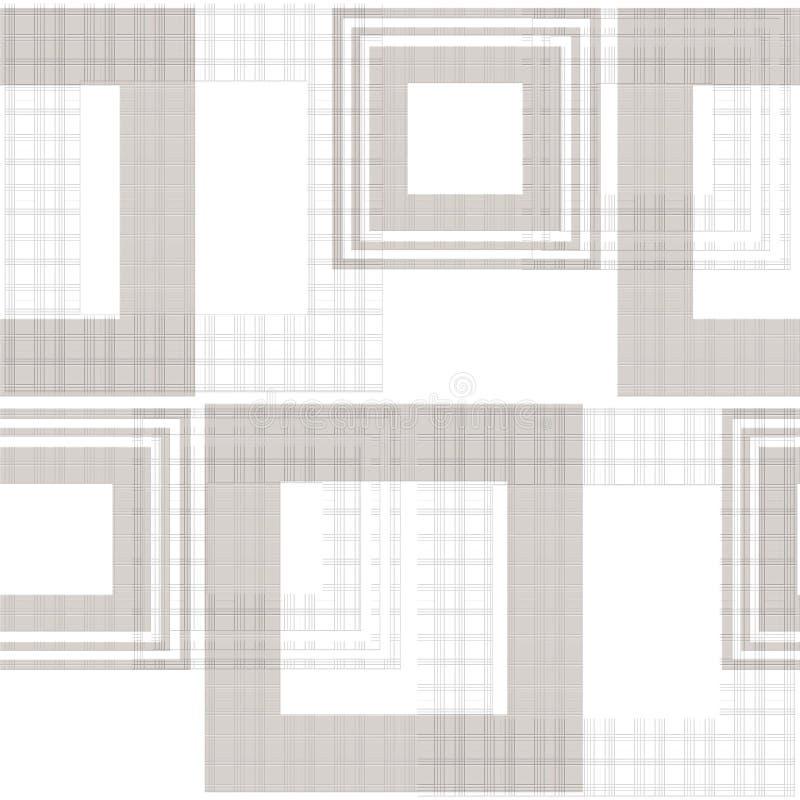 Backg elegante geométrico del ornamento retro abstracto inconsútil del modelo stock de ilustración