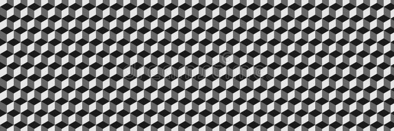 backg preto e cinzento elegante horizontal do sumário do teste padrão do hexágono ilustração royalty free