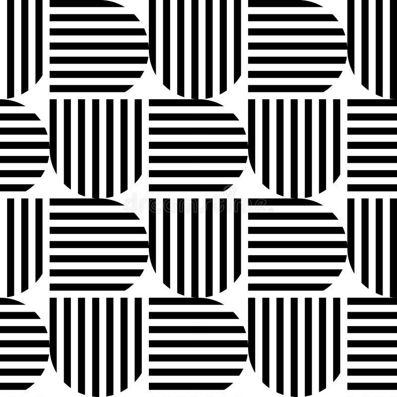 Backg sans couture d'abrégé sur modèle de rayure géométrique noire et blanche illustration libre de droits