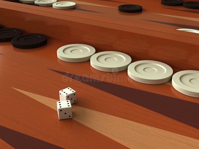 Download Backgammon stock illustration. Image of draught, backgammon - 37785431
