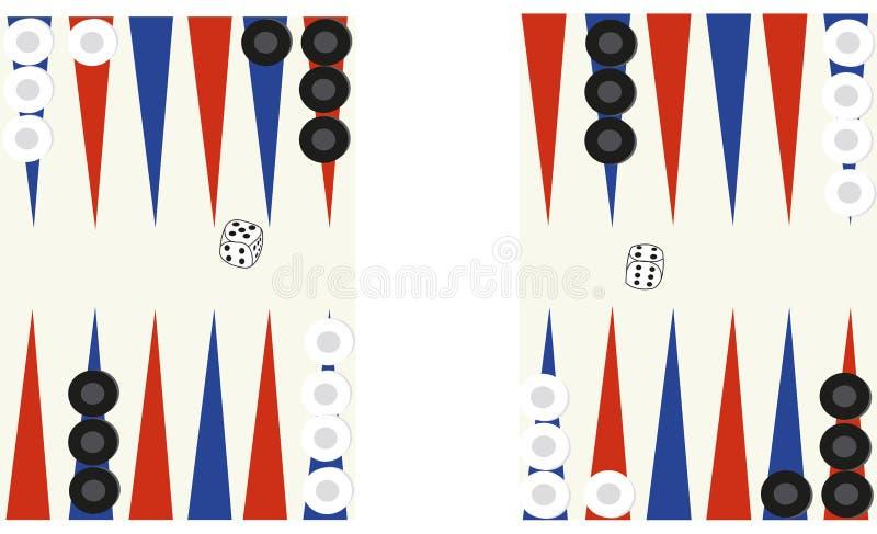 backgammon immagine stock