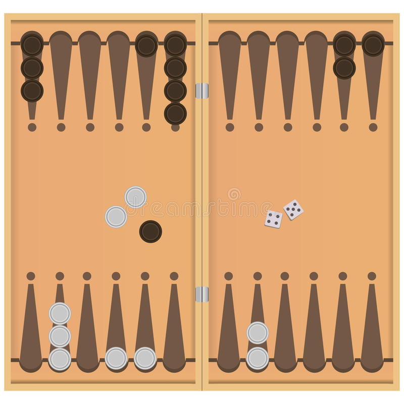 backgammon vector illustratie
