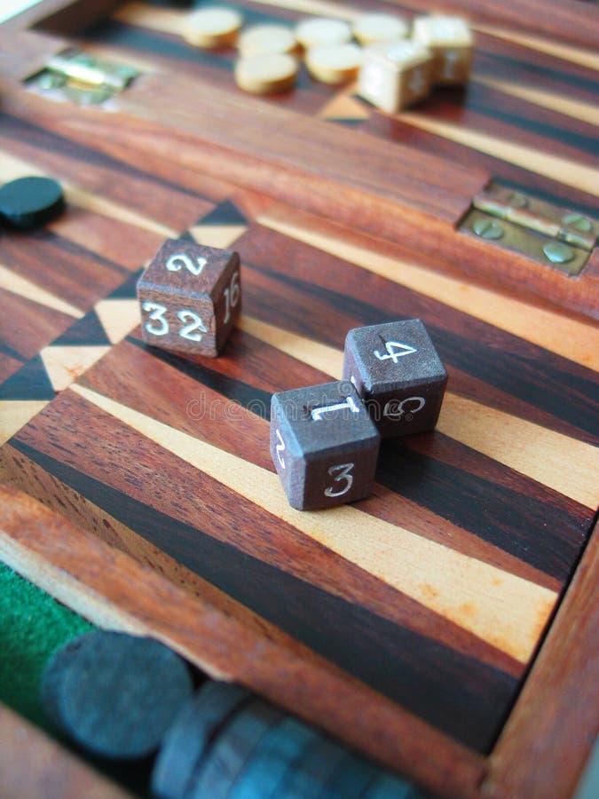 Backgammon stockbild