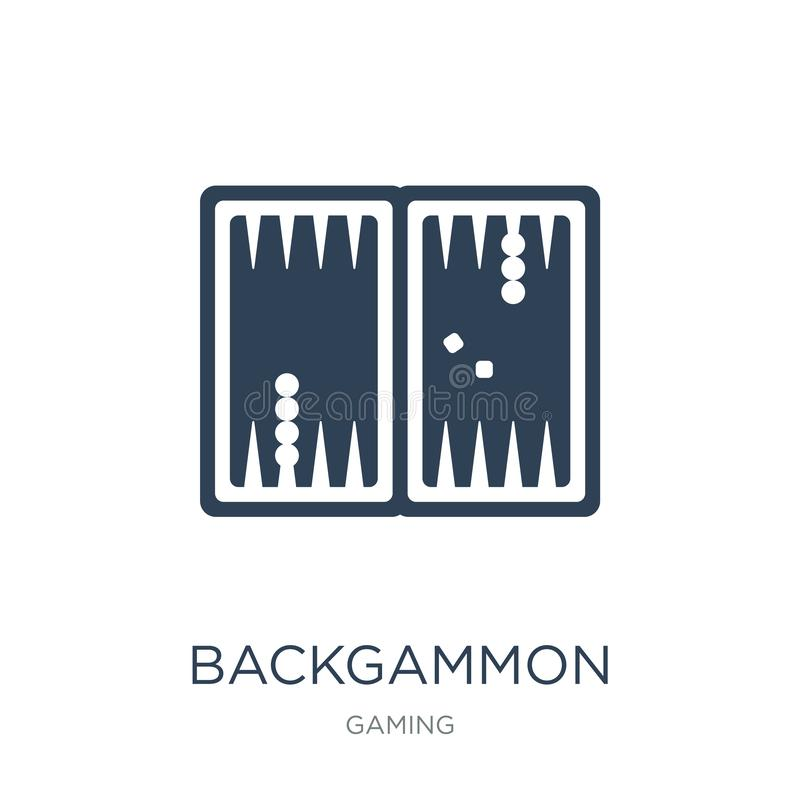 backgammon icon in trendy design style. backgammon icon isolated on white background. backgammon vector icon simple and modern royalty free illustration