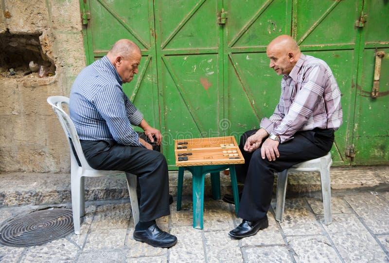 Backgammon in Jeruzalem royalty-vrije stock afbeelding