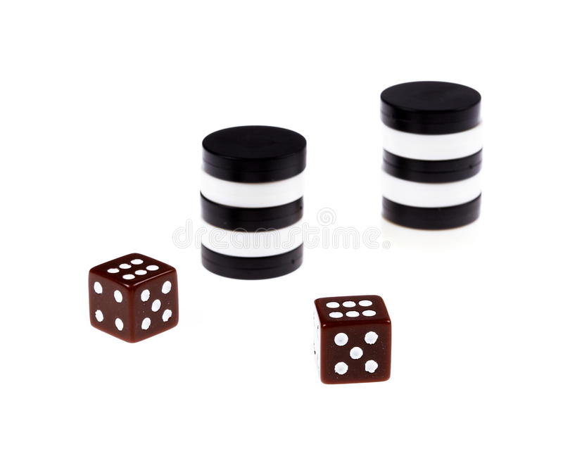 Backgammon royalty free stock photography