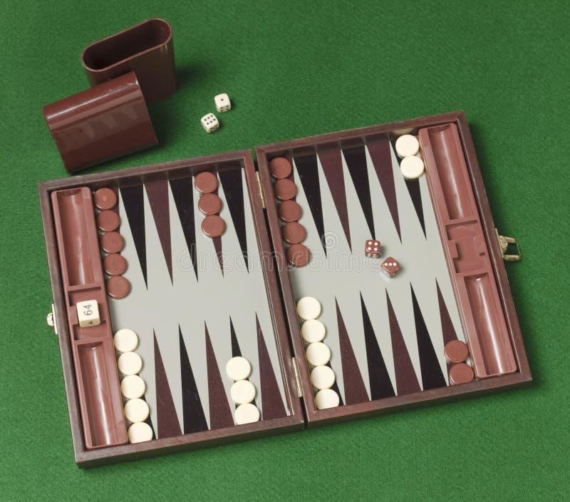 Backgammonspiel stockfotografie