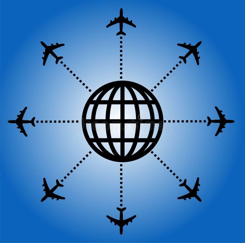 Backgorund d'avion illustration stock