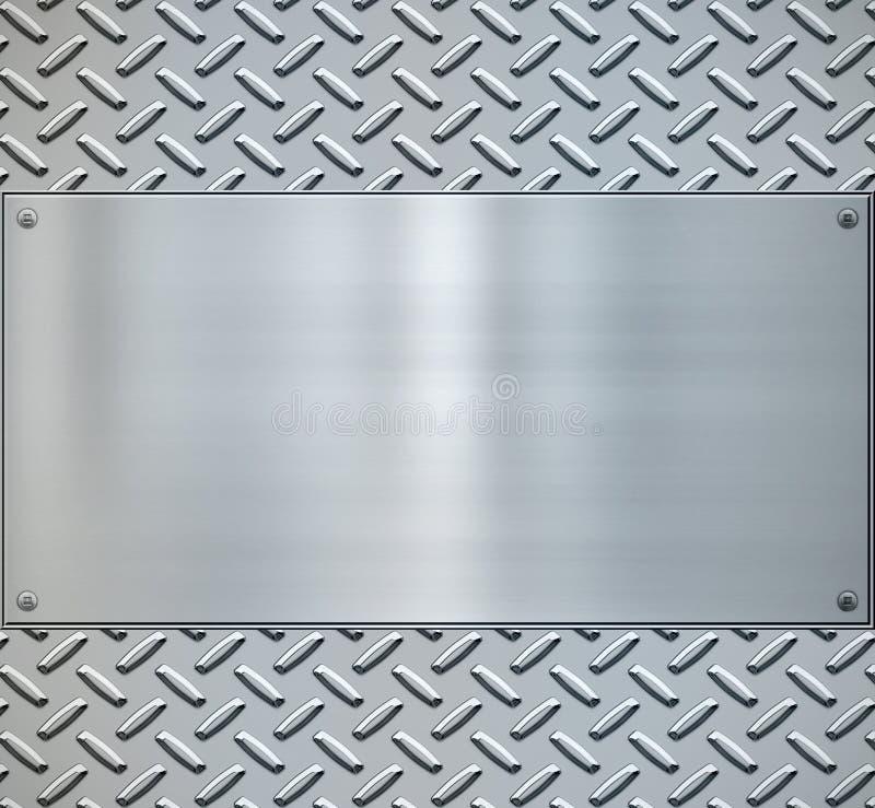backgorund diamentowy metalu talerz błyszczący ilustracji