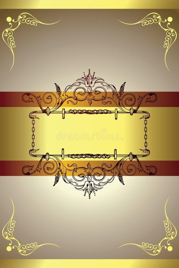 Backgorund dorato illustrazione vettoriale