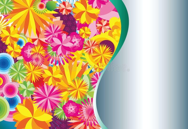 Backgorund floral ilustração stock