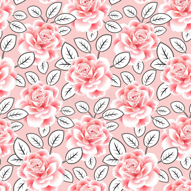 Backgorund sans couture de roses Lames d'abstrait Mod?le ENV 10 photos libres de droits