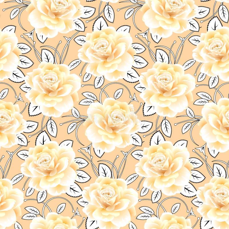 Backgorund sans couture de roses Lames d'abstrait Mod?le ENV 10 photos stock