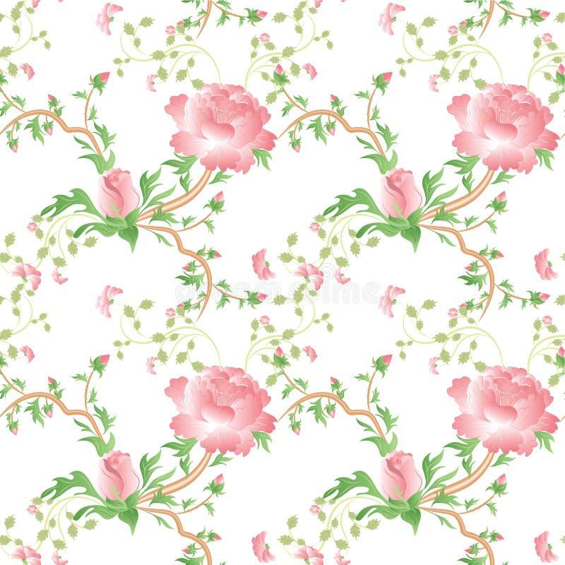 Backgorund senza giunte del reticolo del fiore di Provance illustrazione vettoriale