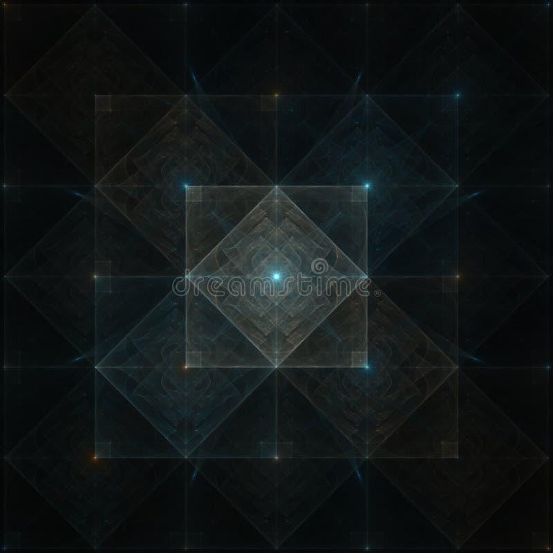 Backgound abstracto del fractal fotos de archivo