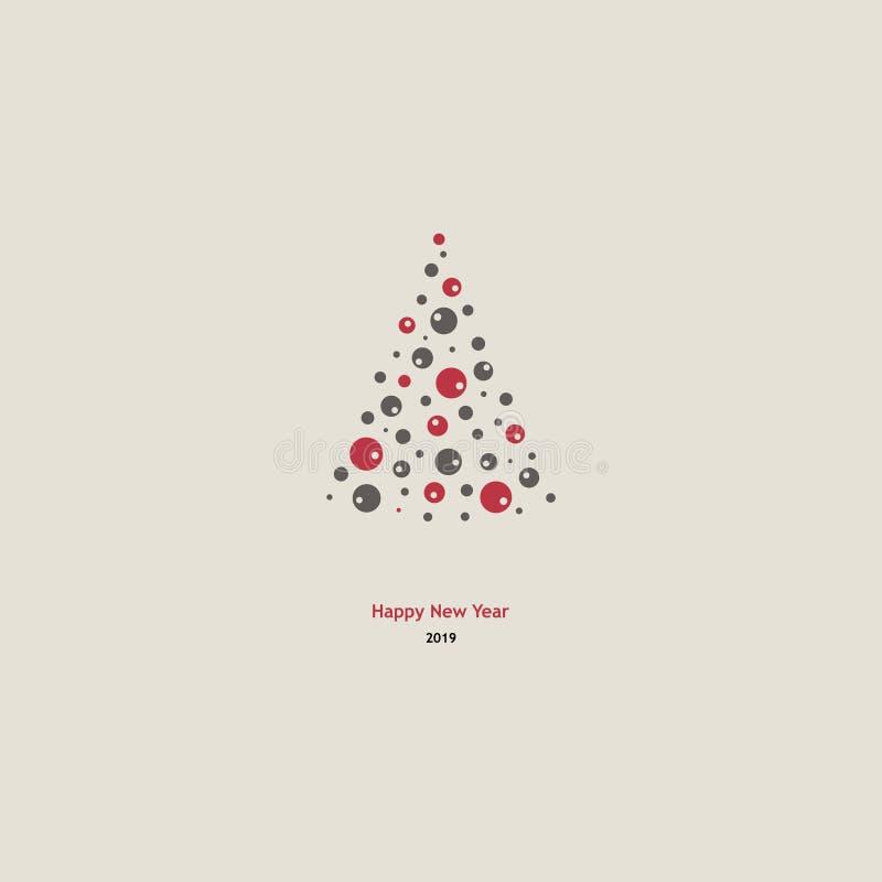 Backgound del árbol de abeto de las vacaciones de invierno ilustración del vector