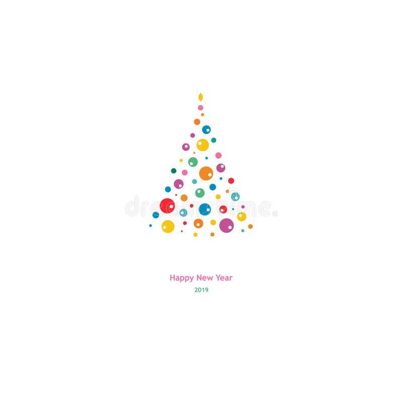 Backgound dell'albero di abete di vacanze invernali illustrazione di stock